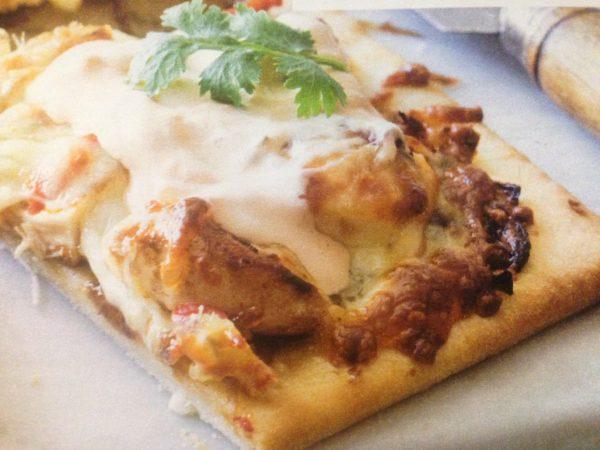 Pizza au poulet et à la crème
