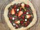 Pizza chocolat fraise framboise