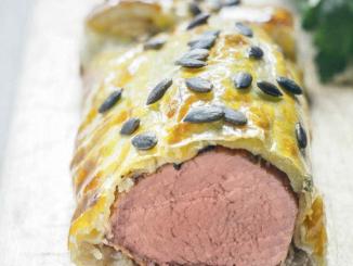 Filet mignon de porc en croûte de pâte feuilletée