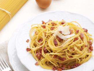 Spaghettis à la carbonara