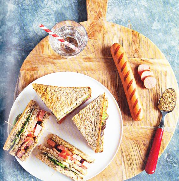 club sandwich aux knacki