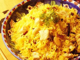 pilaf de poulet à l'indienne