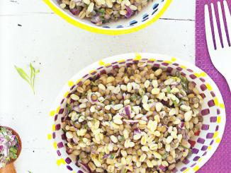 Salade d'ebly et de lentilles vertes à l'estragon