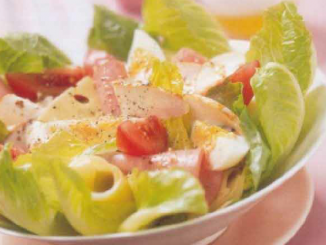Salade poulet jambon fromage
