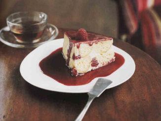 gâteau léger aux framboises