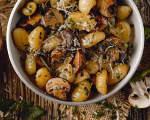 Gnocchis aux champignons