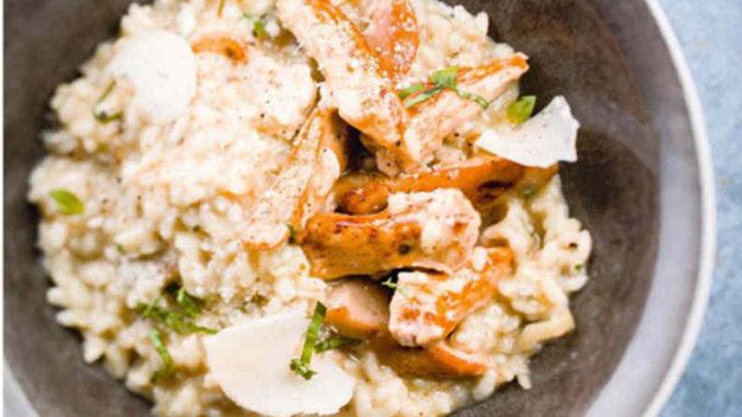 Recette Risotto crémeux au parmesan et au poulet