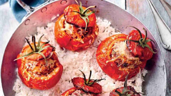 Recette tomates farcies express au porc et riz blanc