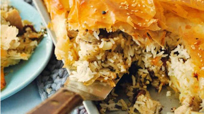 Gratin de riz au poulet et aux épices