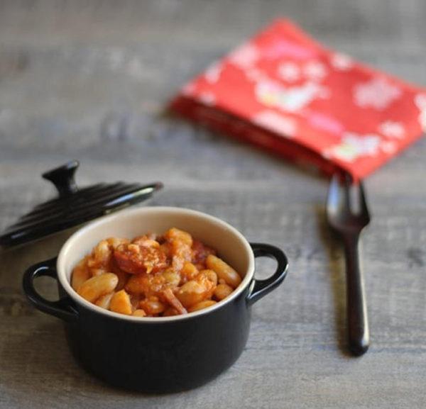 Recette Haricots tarbais au chorizo et à la sauce tomate