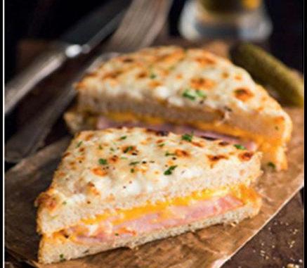 recette croque-monsieur gratiné jambon cheddar