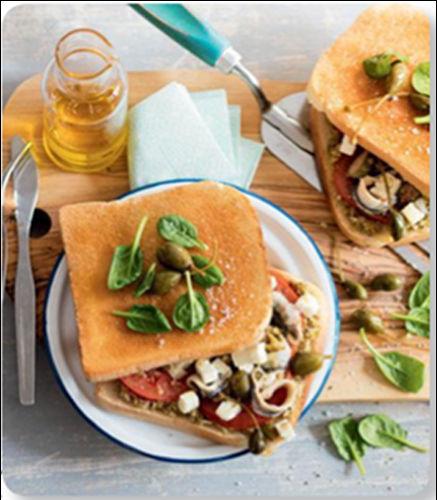 recette sandwich niçois anchois tomate feta